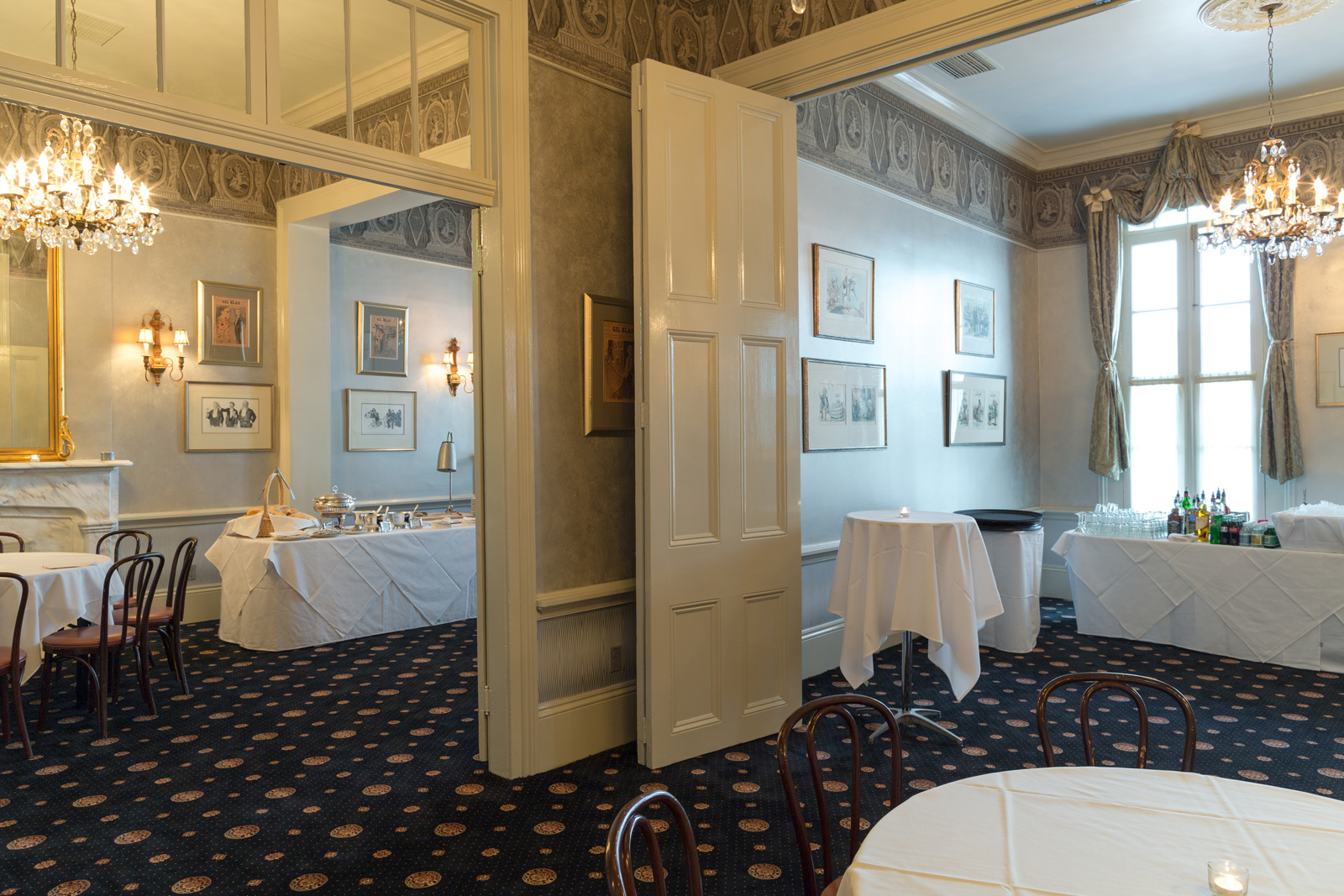 dauphine toulouse lafitte reception with stations - Private Dining Rooms New Orleans